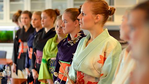 Japanilainen vanha tyttö suku puoli