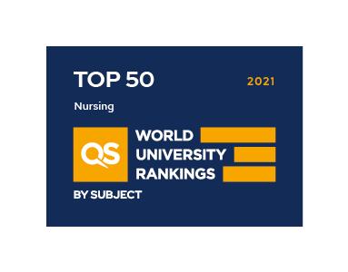 QS Ranking 2021 Nursing TOP50