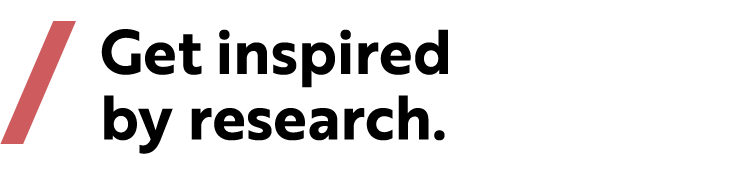 "Slogan ""Get inspired by research"""