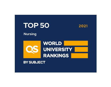 QS Ranking 2021 Nursing TOP50