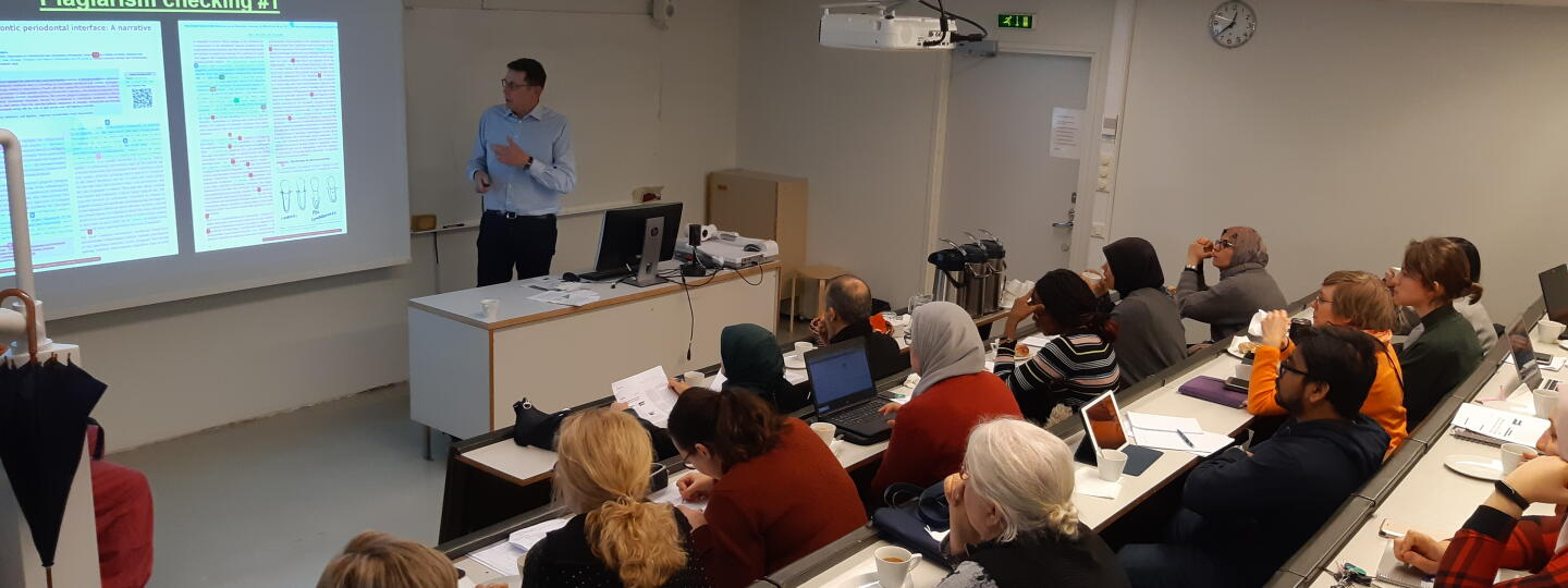 FINDOS/PGE -course, Academic writing, reading and reviewing workshop on the last day of the course