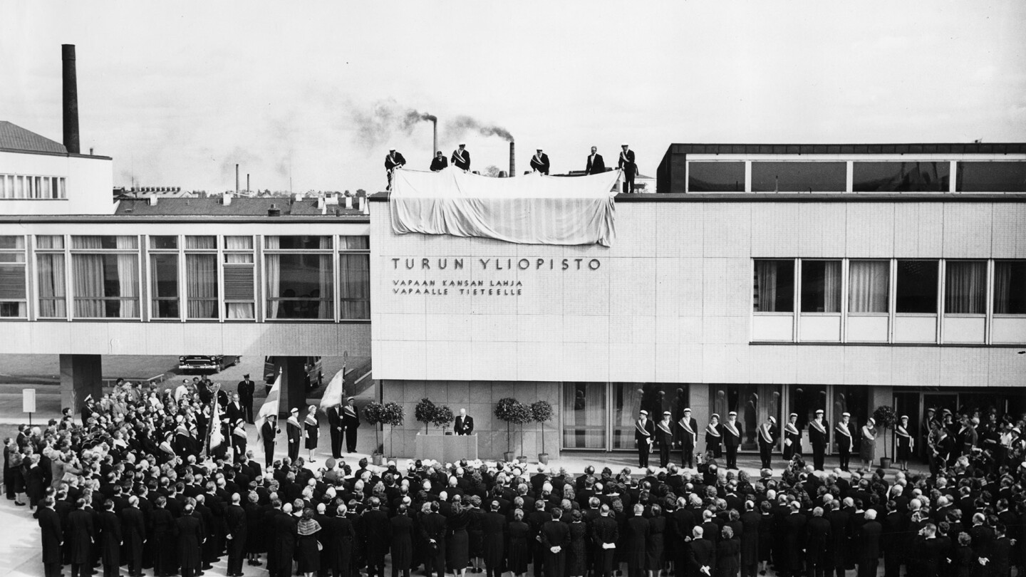 Main Building inauguration in the 1950s