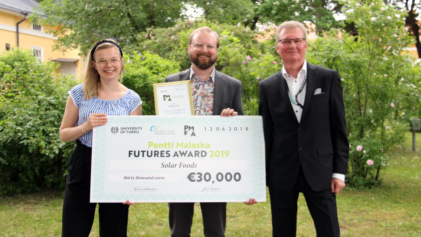 Winner of Pentti Malaska Futures Award Solar Foods Oy