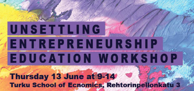Unsettling Entrepreneurship Education Workshop